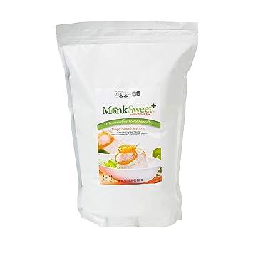 MonkSweet Plus - 5 lb bag - Monk Fruit, Stevia & Erythritol Blend NonGMO  Low Carb Sweetener