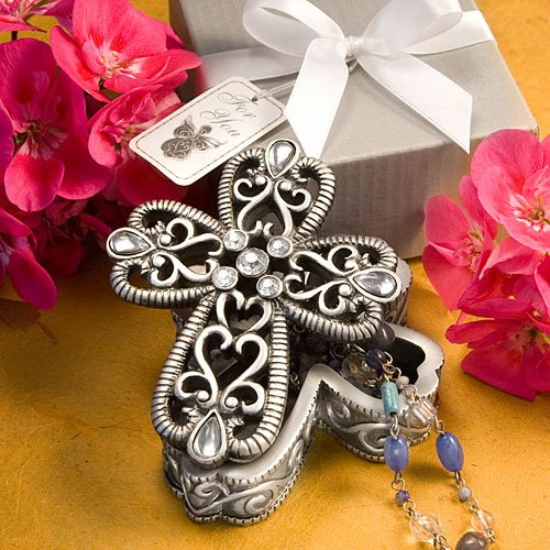Cross Design curio boxes from the Heavenly Favors Collection [SET OF 12]