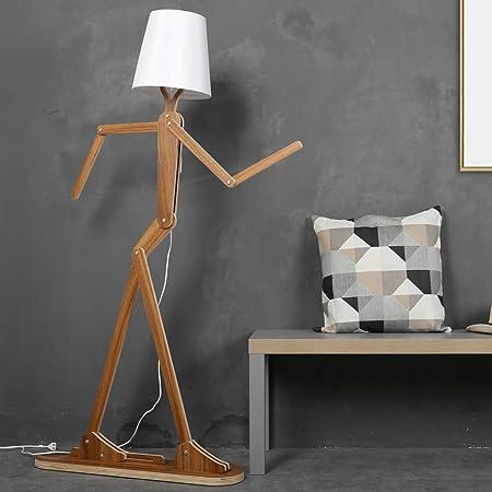 Amazon.com: LIGHT BYJUM Lámpara de Pie de Madera decorativa ...