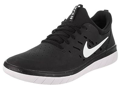 7 Pour Nike Gratuit Nyjah Chaussures Noirblanc Skate Homme Sb aZ78x