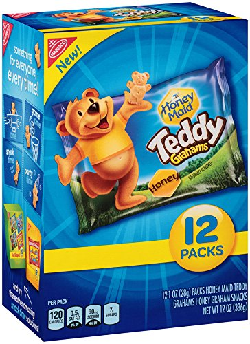 Price comparison product image Teddy Graham Crackers (Honey,  1-Ounce Bags,  12 Count)
