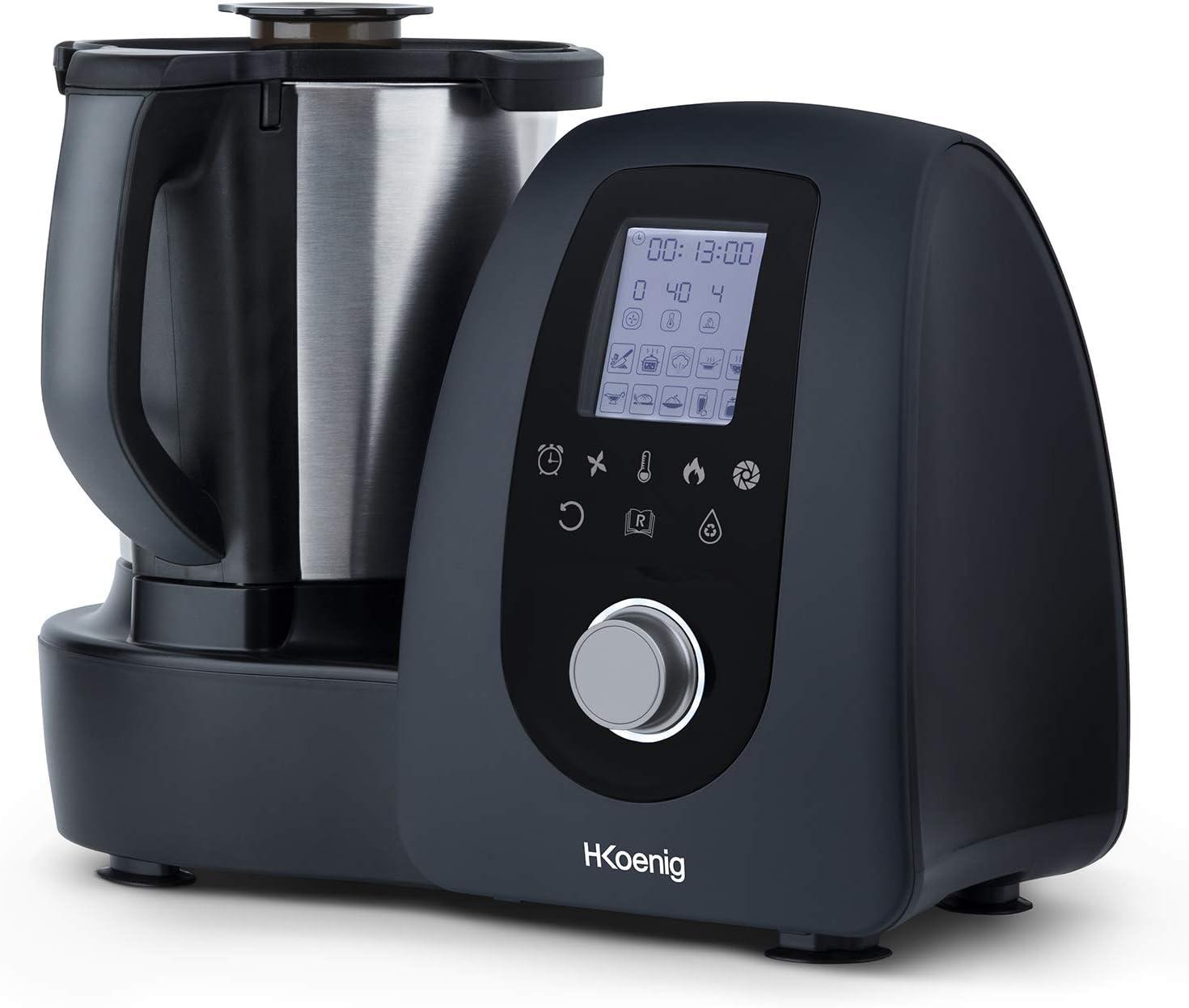 H.Koenig HK8 Robot de Cocina Multifunción, Robot Inteligente Profesional, Potencia 100 W, 15 Programas de Cocinado, 10 Velocidades, Capacidad 2,5 L, Temperatura Regulable hasta 120ºC, Pantalla Digital: Amazon.es: Hogar