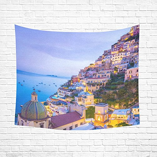 [JC-Dress Tapestry Positano Amalfi Coast Campania Sorrento Italy Cotton Linen Wall Tapestry 60x51] (Italy Cotton Dress)
