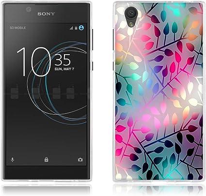FUBAODA Funda para Sony Xperia L1/E6 Carcasa de Silicona: Amazon ...