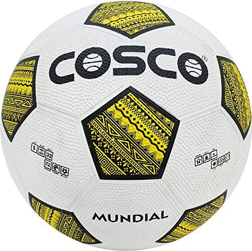Cosco Football Mundial   Size 5, White   Yellow