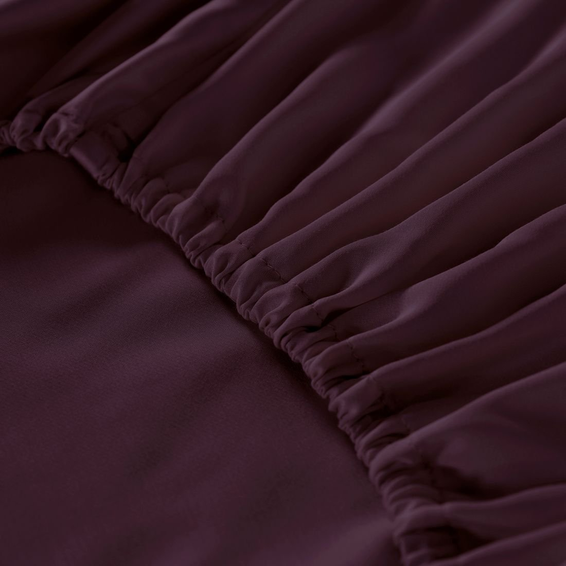 Natural Quality 100% Tencel from Eucalyptus Wood Pulp Bed Sheet 4-Piece Set - Eco-friendly, Refreshing & Silky Soft Fiber, Hypoallergenic, Mist & Odors Resistant Bedding, Burgundy King by Whitney Home Textile (Image #6)