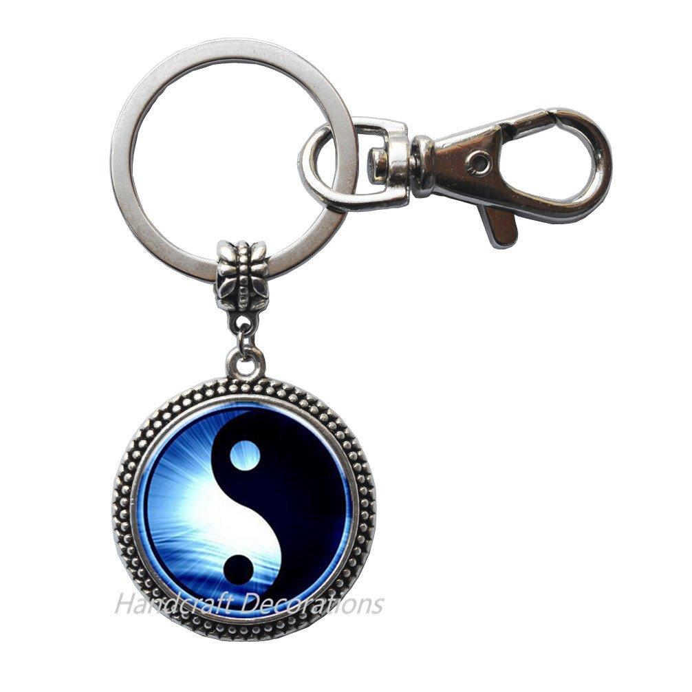 Yin-Yang Llavero/llavero joyas, llavero de arte fino ...