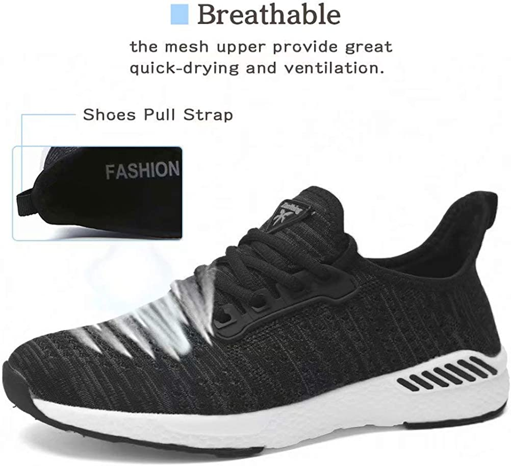VISIONREAST Knit Running Shoes Mens Athletic Walking Sports Shoes Mesh Breathable Fashion Sneakers Lightweight Tennis Gym Shoes