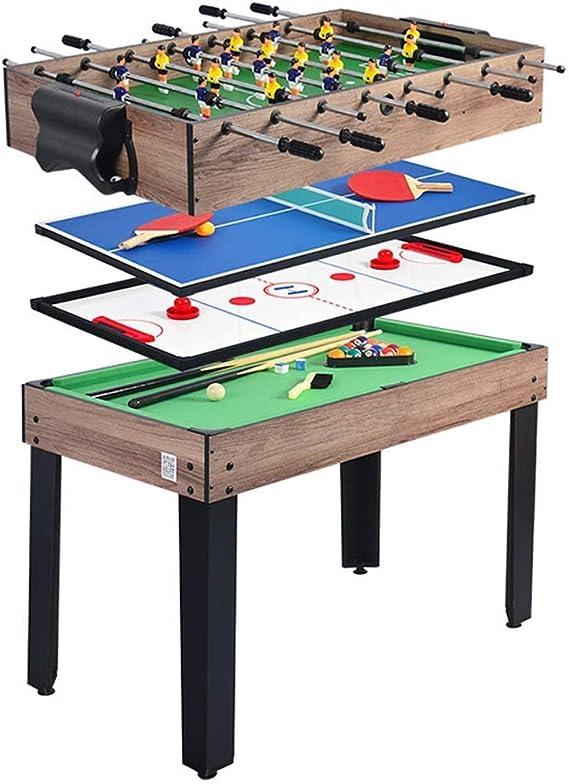 BEANFAN 4 en 1 Multifuncional Futbolín Mesa de la máquina de Billar Ping-Pong de Hockey sobre Hielo (Tamaño: 103x58x71cm): Amazon.es: Deportes y aire libre