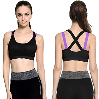 e8002537846 BEBIG High Support Sports Bra for Running Ladies Underwear Cross Beauty  Back No Steel Ring Shockproof