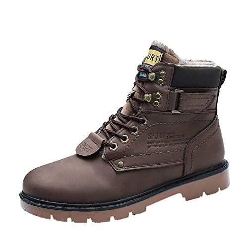 exzellente Qualität Outlet-Boutique auf Füßen Bilder von Celucke Herren Schnürstiefel Kurzschaft Warm Gefütterte Stiefel Combat  Boots,Winter Männer Budapester Sport Stiefeletten