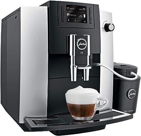 JURA E6 Platina Independiente Máquina espresso Negro, Platino 1,9 L 16 tazas Totalmente automática - Cafetera (Independiente, Máquina espresso, 1,9 L, Molinillo integrado, 1450 W, Negro, Platino): Amazon.es: Hogar