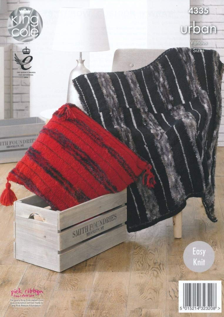 Easy knit Wrap.Blankets,Throw King Cole Urban  Knitting Pattern 4335