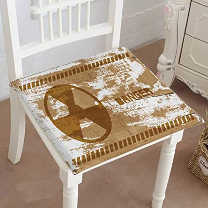 Amazon.com: Mikihome Squared Seat Cushion Sign of Radiation ... on death in houses, ventilation in houses, gases in houses, laser in houses, smoking in houses, space in houses, gas in houses, temperature in houses, technology in houses, mercury in houses, water in houses,