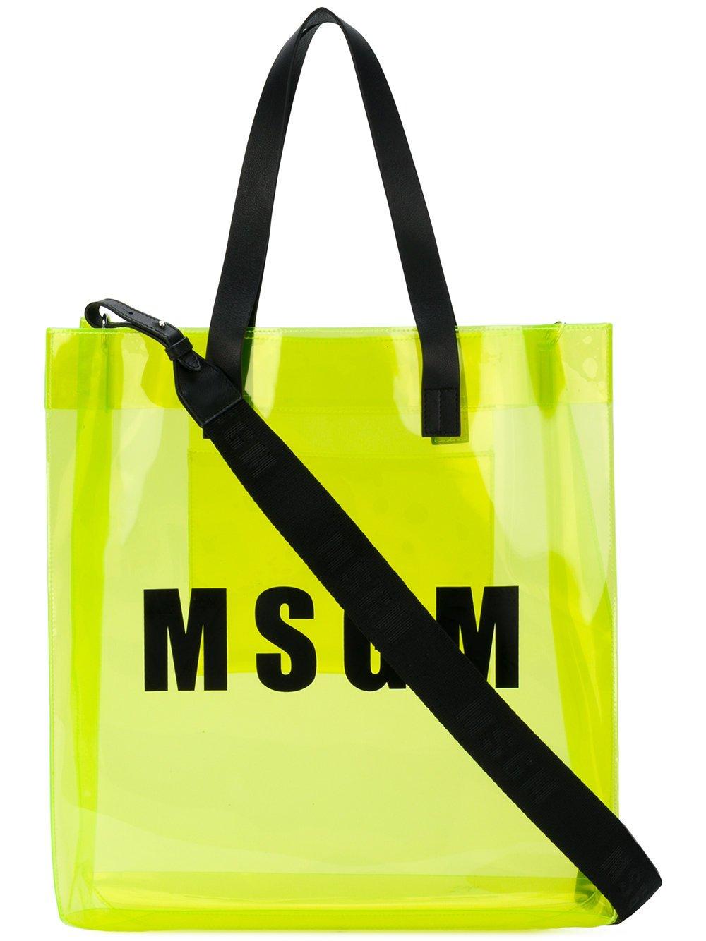 Msgm Women's 2441Mdz55010 Yellow Pvc Tote