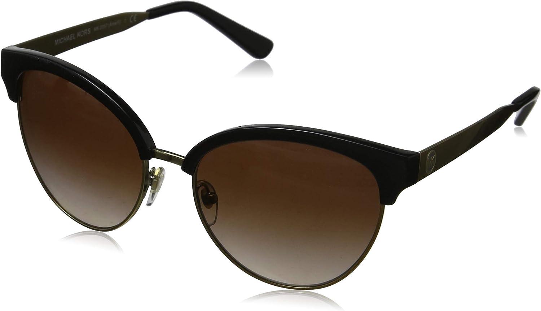 Michael Kors Amalfi 330513 56 Gafas de sol, Negro (Black/Gold/Tone/Smoke Gradient), Mujer