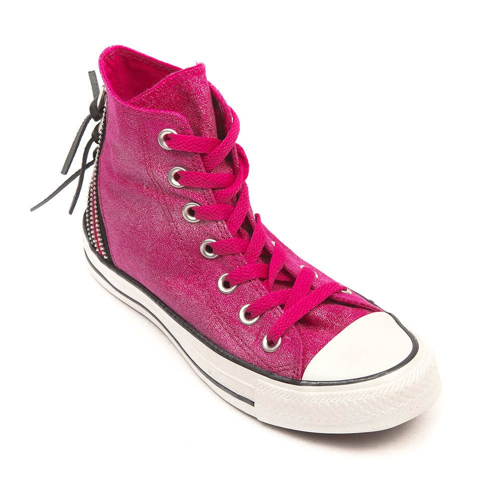 9116b16c0cb76 Converse Unisex Adults  Chuck Taylor All Star Femme Sparkle Wash Tri Zip Hi  Gymnastics Shoes Pink Size  6.5 UK  Amazon.co.uk  Shoes   Bags