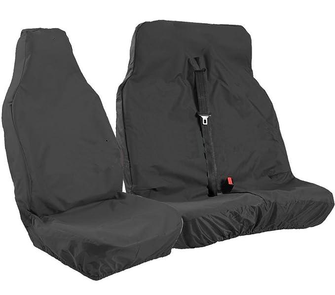 Amazon.es: Fundas de asiento universales para furgonetas en negro, para uso muy intenso, de XtremeAuto®
