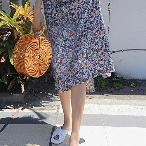 à Bambou Plage Grand sac main Oshide sac Womens sac la main Fourre à en tout D'été de 4wUEUX8qn