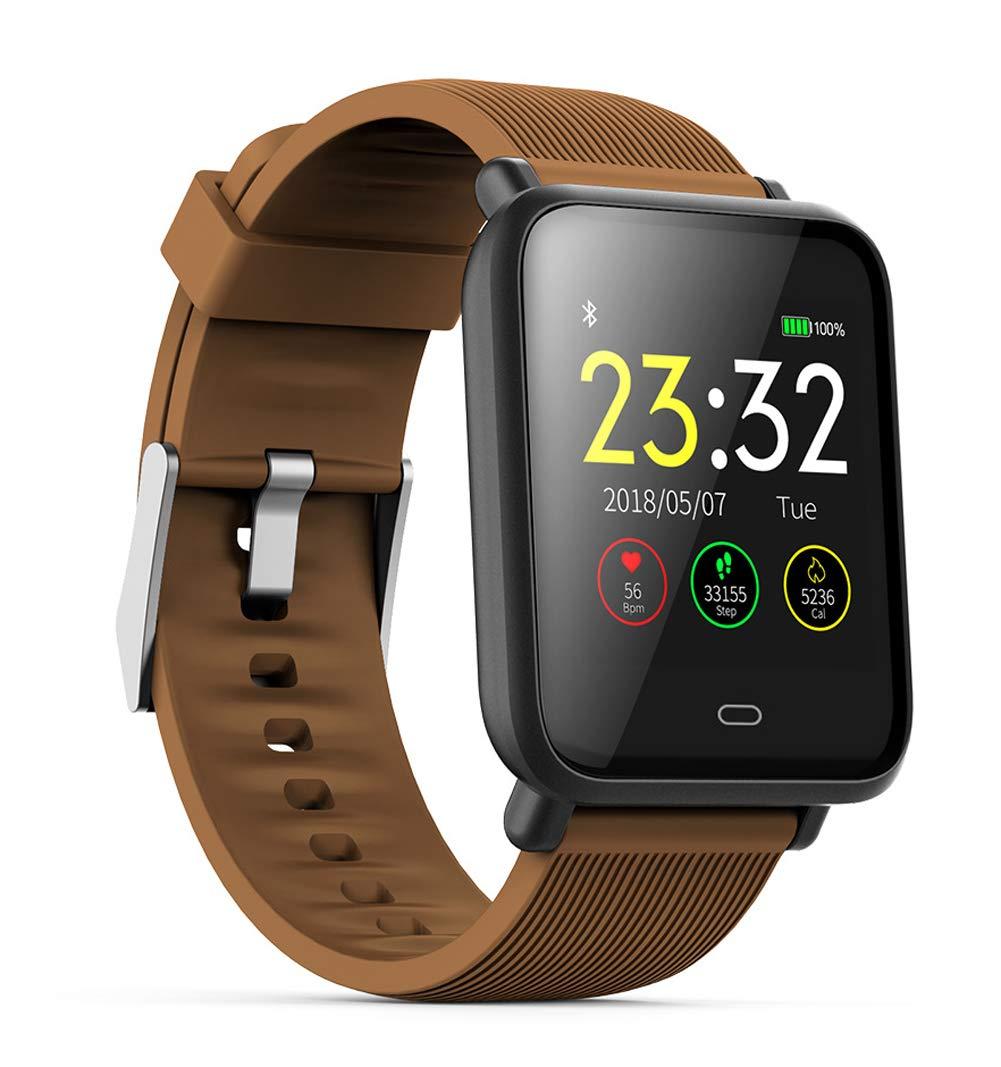 YANGYA Smart Wristband, Fitness Watch Activity Tracker Ip67 Waterproof Belt Pedometer Sleep Monitor for Android iOS Phones-Brown by YANGYA