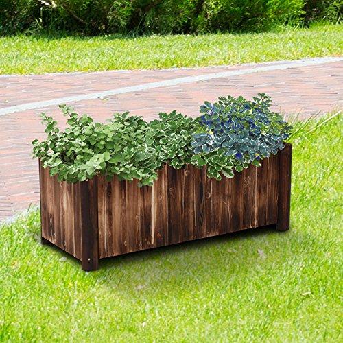 Generic O-8-O-4304-O ir Back Plants Box nts Box Bed Vegetables etables 47'' Wooden Rectangular ower Be Fir Backyard Grow ular Ga Garden Flower NV_1008004304-TYQFUS32 by Generic
