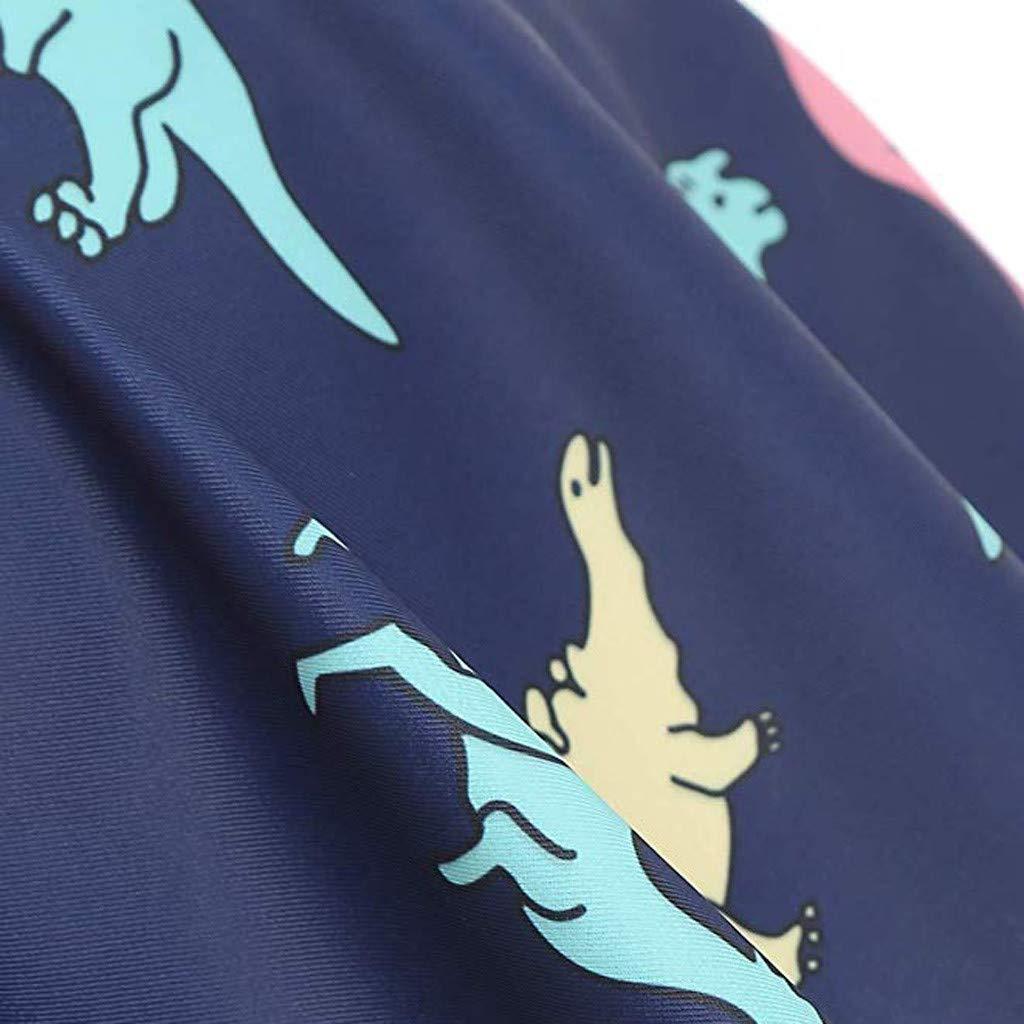 Fitfulvan Womens Bikini Set Swimsuit High Waist Dinosaur Print Bathing Suit Ruffle Light Breathable Beahwear