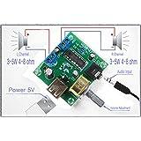 Winwill® PM2038 amplificateur audio stéréo 2X5W Bord 5V alimentation USB volume réglable