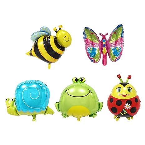 6Pcs Mini Animal Foil Balloons Birthday Decoration Fish Balls Inflatable Balloon