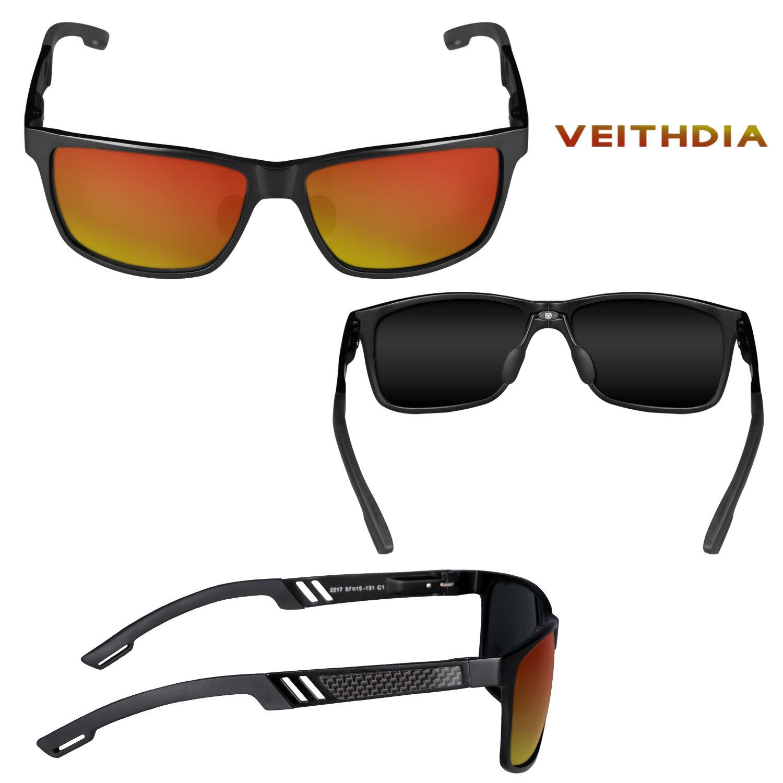 VEITHDIA 6560 Fashion espejo UV400 conducción gafas de sol polarizadas para hombres mujeres: Amazon.es: Ropa y accesorios