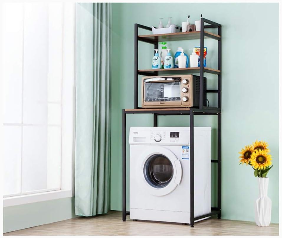 Due Colori RTTzw Ripiano per Lavatrice Cremagliera della Lavatrice dellasta del Acciaio al Carbonio Quadrata Balcone Lavanderia Mobile Lavatrice del Tamburo scaffale Superiore scaffale 3 Strati