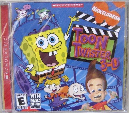 Scholastic Nickelodeon Toon Twister 3-D CD-Rom Software Plastic Jewel Case