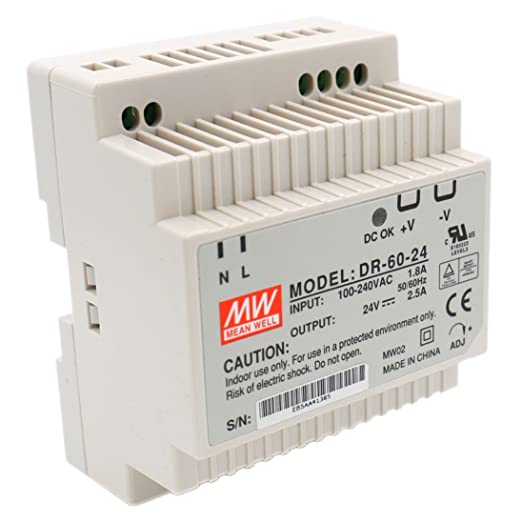Heschen Meanwell switching power supply DR-15-24 15W 24V 0.63A DIN-Rail UL CE listed