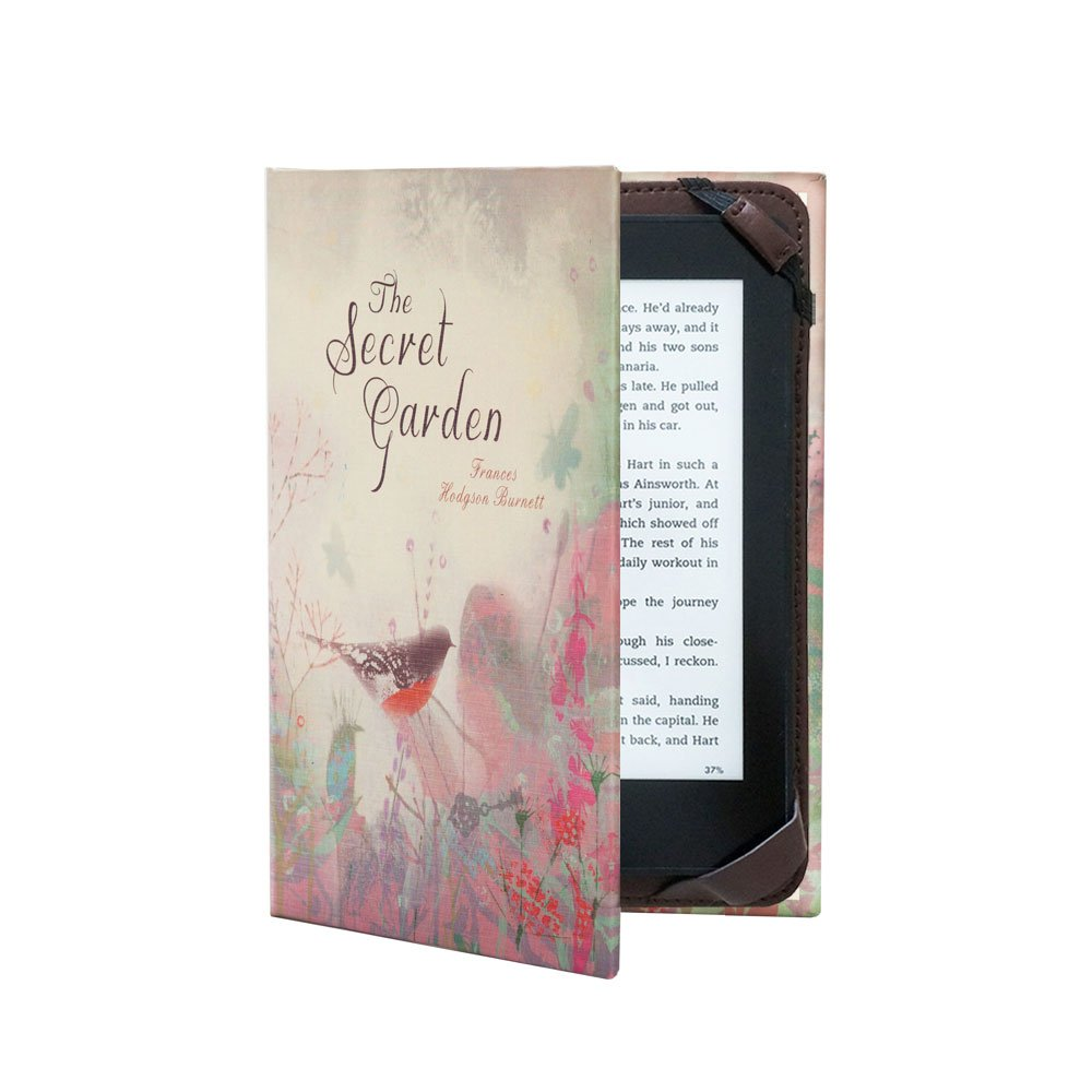 Book Cover Case for All 6'' eReaders inc. Paperwhite (Secret Garden)