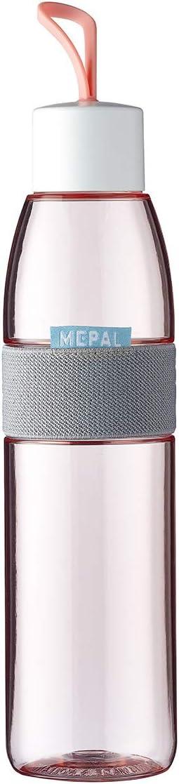 Rosti Mepal Ellipse 107778076700 - Botella para agua, 700 ml, 6.8 x 6.8 x 29.8 cm, Rosa (Nordic Pink)