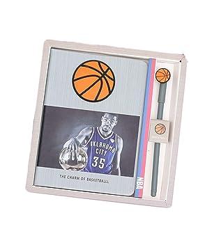 Diario de escritura para niños, cuaderno de baloncesto grueso de ...
