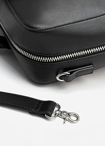 38f9364ee35c4 MANGO MAN - Koffer mit Taschen prägung - Size Einheitsgröße - Color Schwarz   Amazon.de  Bekleidung