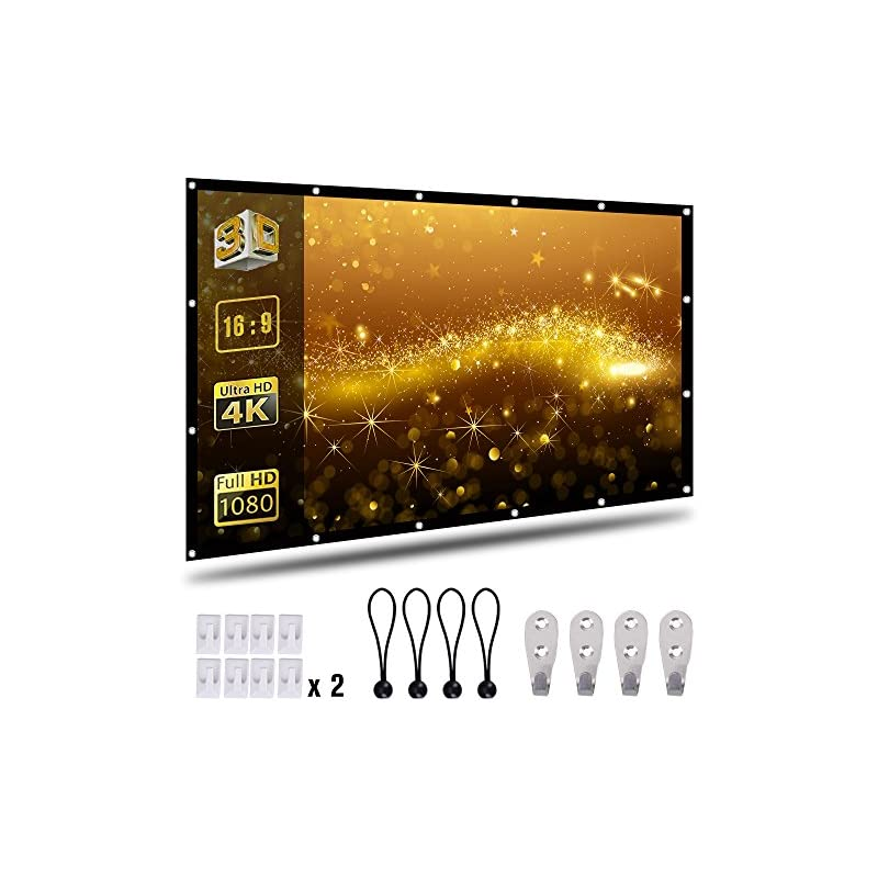 Coolwoo 100 inch Projector Screen, 16:9