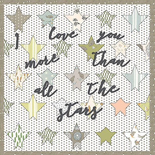 Lydia Nelson Darling Little Dickens Stars with Writing Quilt Kit Moda Fabrics KIT49000