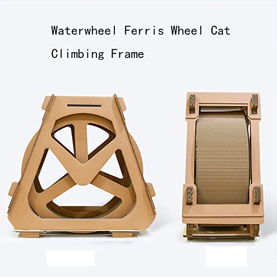 Amazon.com: OJBK - Rueda de papel corrugado para gato o gato ...