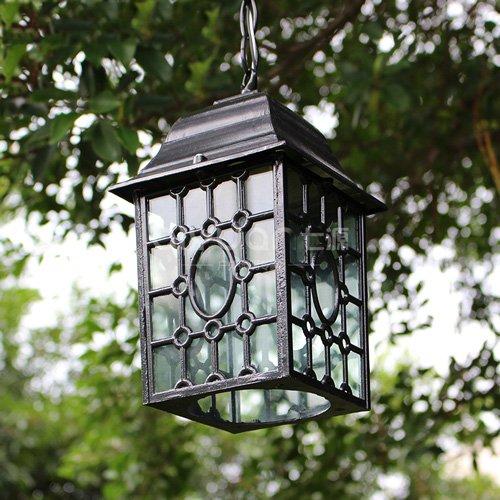 CGJDZMD Creative Outdoor Waterproof Pendant Lamp Antirust Aluminum Hanging Lights Vintage Garden Pavilion Chandelier E27 Balcony Corridor Lights Landscape Hallway Basement Chandeliers