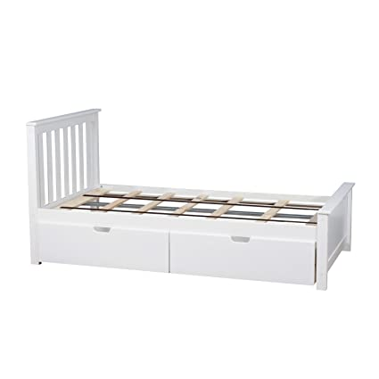 Amazoncom Max Lily Solid Wood Twin Size Bed With Under Bed