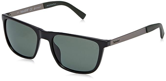 Timberland TB9131 Gafas de Sol, Negro (Shiny Black/Green ...