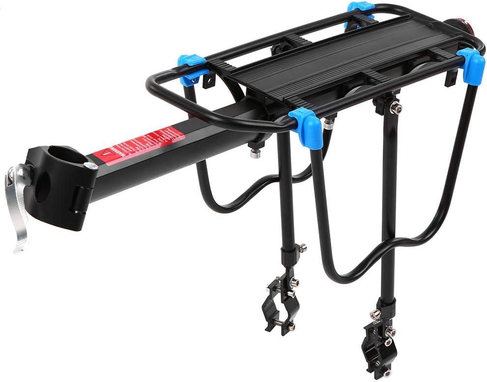 Lixada Portaequipajes Trasero Bicicleta Retráctil Aleación de Aluminio Bastidor del Poste del Asiento Trasero