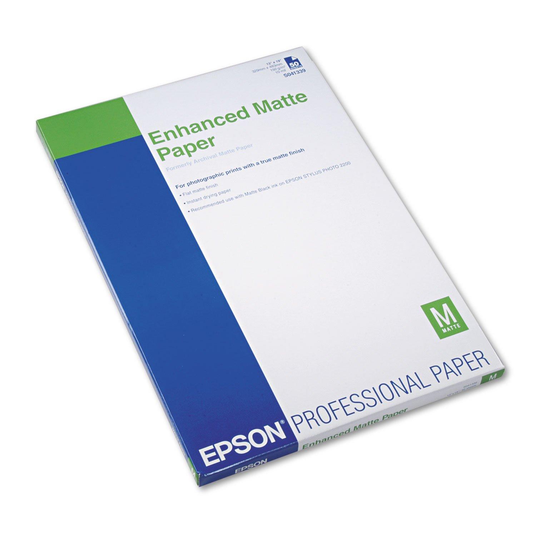 Epson Enhanced Matte Paper 50 sheets (S041343) - A3 (11.7x16.5)
