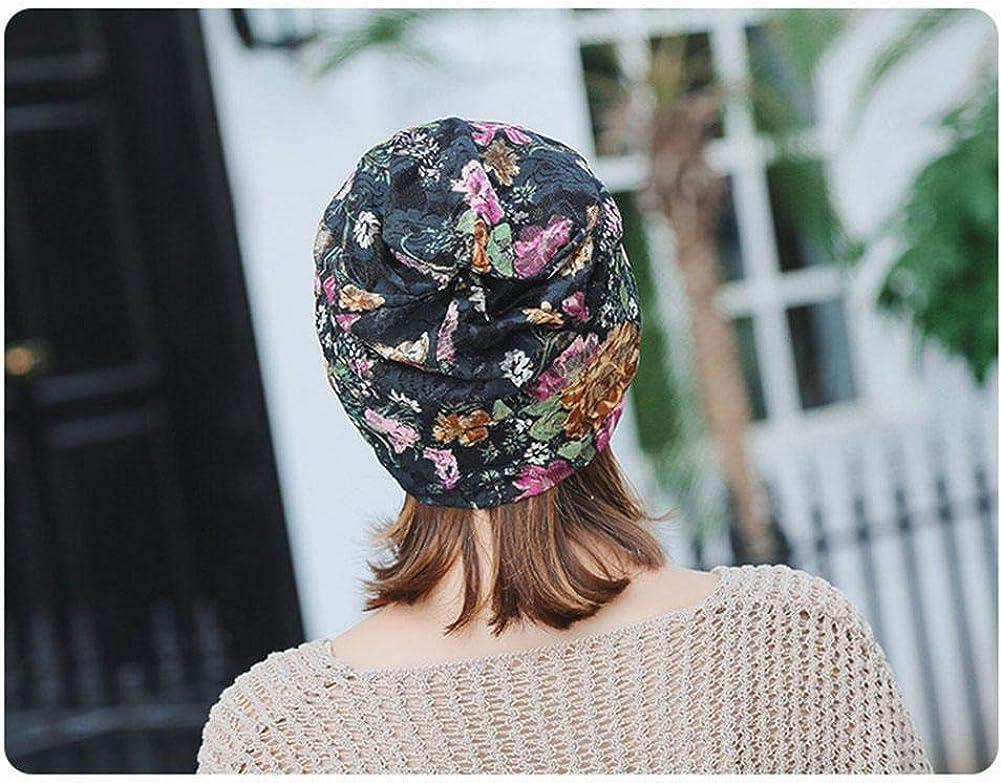 p/érdida de Pelo Turbante Turbante Femenino Pac c/áncer L/à Vestmon Casquillo Impreso de la Bufanda del Pelo del Abrigo de Las Mujeres Musulmanes de Turbante para el sue/ño quimioterapia