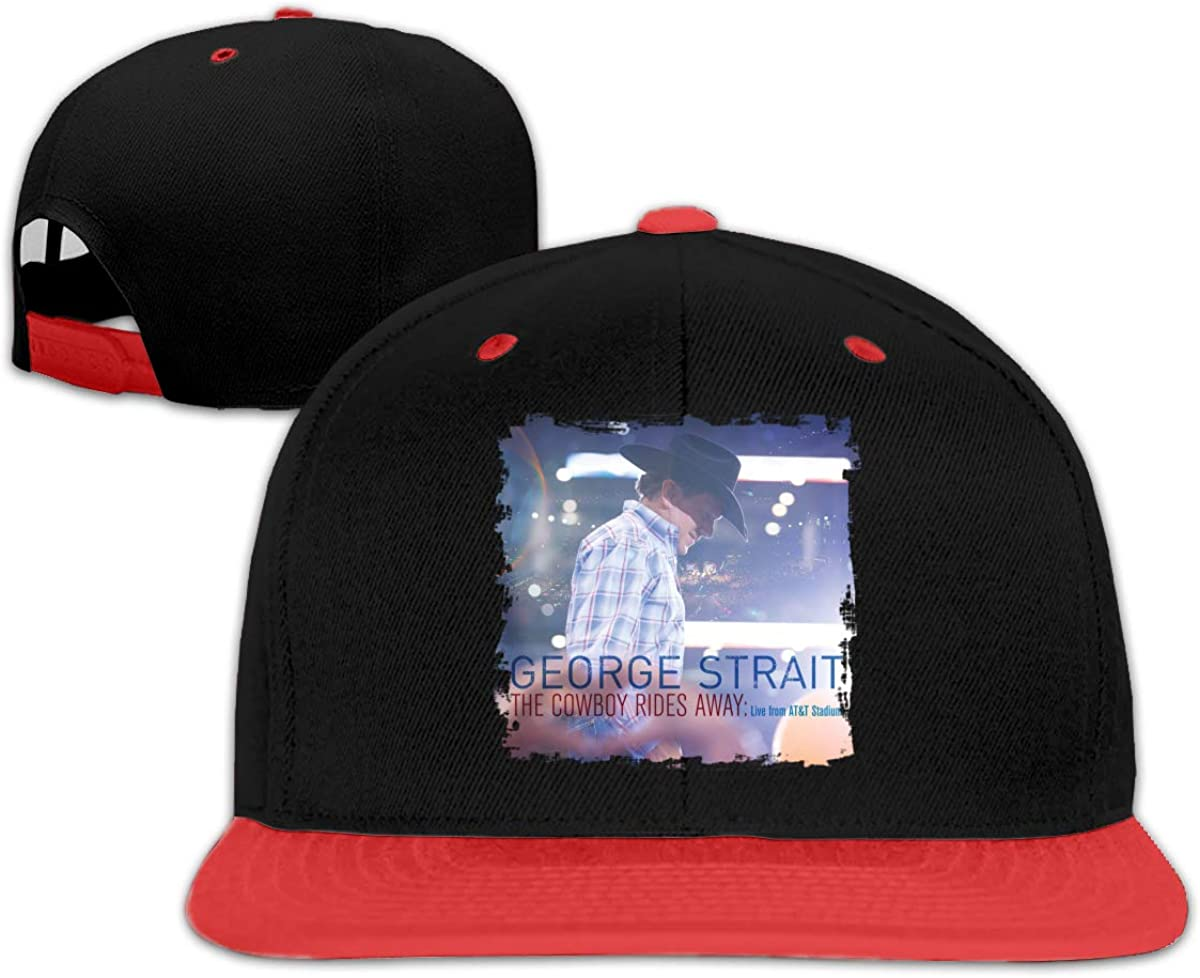 George Strait The Cowboy Rides Away Adjustable Unisex Women Mans Cap Hot Hip-hop Baseball Hat Red