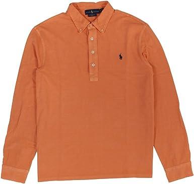e19e2bca Polo Ralph Lauren Men's Featherweight Mesh Button Down Shirt at Amazon  Men s Clothing store: