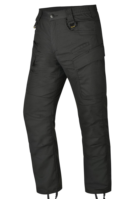 HARD LAND Men's Waterproof Tactical Pants Lightweight Work Cargo Pants with Elastic Waist BDU Charcoal Grey Size 34W×30L