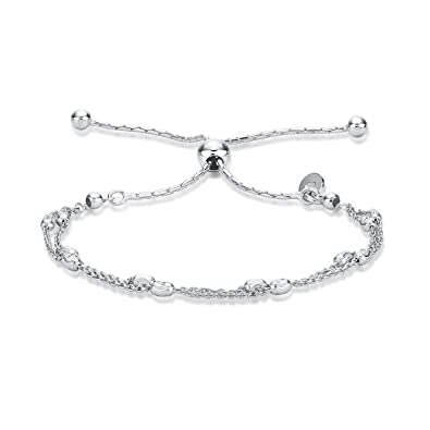 Diamond Treats Womens Silver Bracelet 00bc5924a3