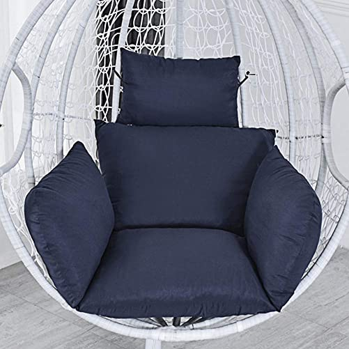 Hanging Egg Chair Cushion, Swing Chair Cushion Thicken Egg Seat Cushion Indoor Outdoor Patio Hanging Egg Hammock Seat Cushion Hanging Basket Chair Cushions – Non-Slip Washable